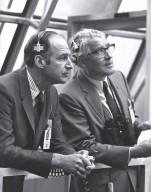 Dr. Lowe and Dr. von Braun at the Apollo 14 Launch