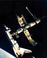 Undocking of Space Shuttle Atlantis and Mir Space Station