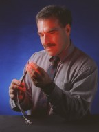 Dr. Harry Whelan With the Light Emitting Diode Probe