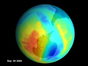 Antarctic Ozone from TOMS: August 15, 2002, to September 29, 2002