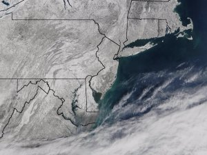 Snow Covers Northeastern United States on February 20, 2003