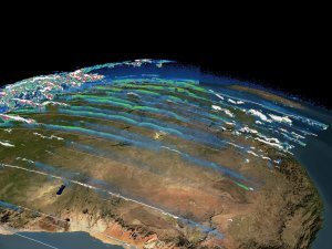 ICESat Aerosols and Clouds over Africa