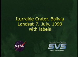 Iturralde Crater with 1999 Data, with labels