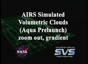 AIRS Volumetric Cloud Data with Gradient Background (Fly Out)