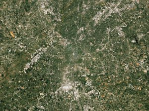Great Zoom out of Atlanta, GA: The State Capitol Building