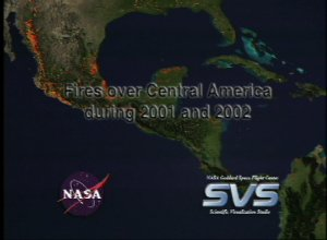 Fires over Central America during 2001 and 2002