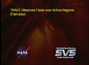 TRACE Observes Flows over Active Regions (Fast play)