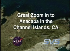 Great Zoom into Channel Islands, CA (Anacapa Island)