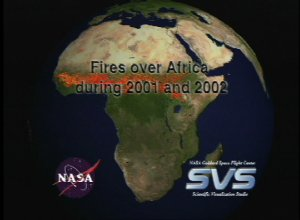 Fires over Africa during 2001 and 2002