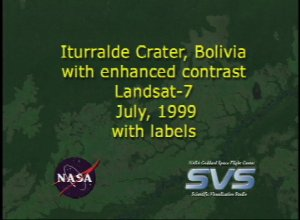 Iturralde Crater, 1999 Data, with enhanced contrast, with labels