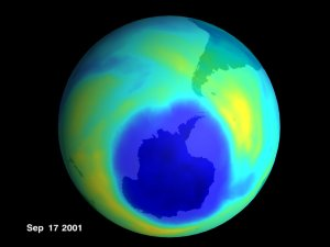 Antarctic Ozone from TOMS: July 15, 2001 to October 9, 2001