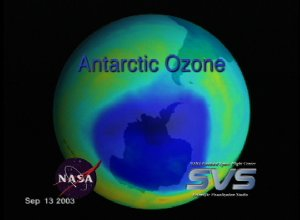 Antarctic Ozone from TOMS: August 1, 2003 to September 23, 2003