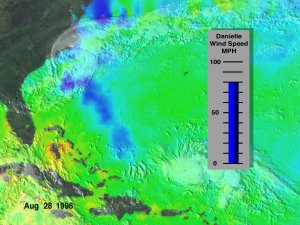 Sea Surface Temp and Hurricane Connections: TRMM and GOES, Aug. 22, 1998 through Sept. 3, 1998 (Deluxe version)