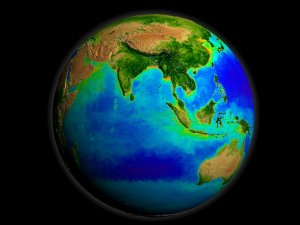 SeaWiFS Biosphere Global Rotation from 1997 to 2006