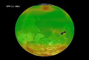 Mt. Pinatubo eruption effect on equatorial ozone