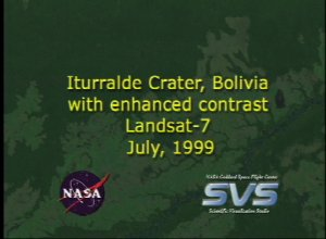 Iturralde Crater, 1999 Data, with enhanced contrast