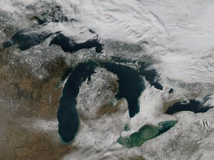 Ice Covers the Great Lakes