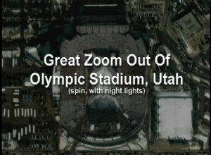 Great Zoom out of Salt Lake City, UT: Rice-Eccles Olympic Stadium (with Spin and Night Lights)