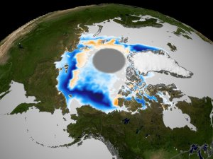 September Mean Sea Ice Concentration Anomaly fade from 2002 to 2003