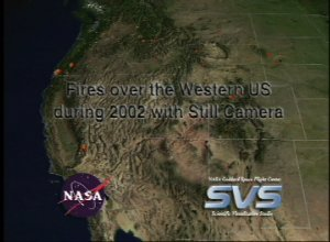 Fires over the Western US during 2002 with Still Camera