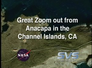 Great Zoom out of Channel Islands, CA (Anacapa Island)