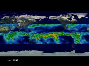 TRMM: Monthly Average Rainmaps from January 1998 through October 2000