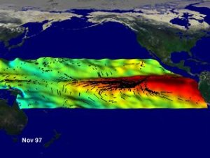 El Niño Sea Surface Wind, Temperature and Height Anomaly Compilation: June 1997 through June 1998
