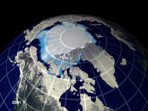 Perennial Ice Cover: Data (1978-2001) and Projection