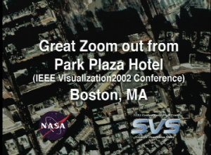 Great Zoom out from Boston, MA: Park Plaza Hotel