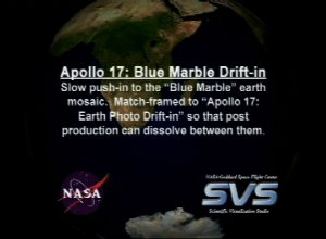 Apollo 17 30th Anniversary: Blue Marble Drift-in