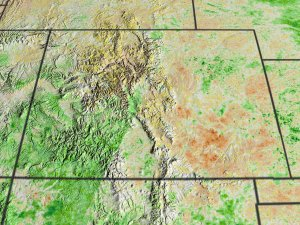 NDVI Anomalies Show Areas of Likely Drought in the Western US (Colorado view)