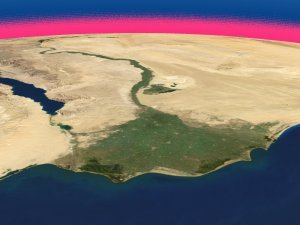 Seasonal Landcover Change over the Nile Delta in 2004