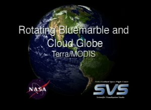 Rotating Bluemarble Globe with Clouds