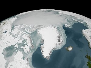 2005 Sea Ice over the Arctic derived from AMSR-E