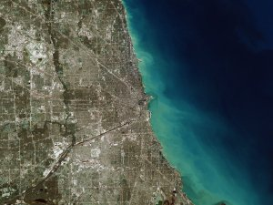 Great Zoom out of Chicago, IL: The Adler Planetarium