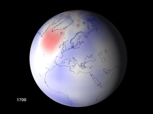 Temperature Response, Global View Over Europe