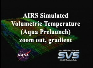 AIRS Volumetric Temperature Data with Gradient Background (Fly Out)