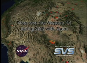 Fires over the Western US during 2002 with Zoom