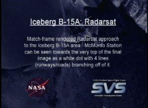 Iceberg B-15A: RADARSAT