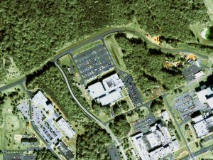 Great Zoom out of Greenbelt, MD: NASA Goddard Space Flight Center