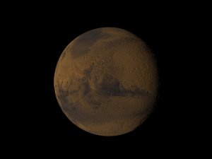 FUSE/MOLA: Mars Once Had Oceans - match render w/o oceans