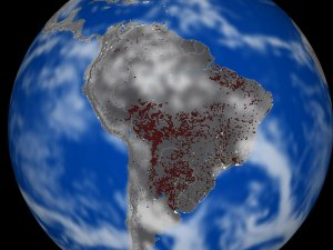 Biomass Burning over South America