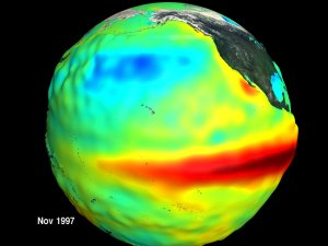 El Nino 'Golfball' for National Geographic's Altas of the Oceans