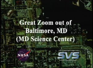 Great Zoom out of Baltimore, MD: Maryland Science Center (for the Volvo Ocean Race presentation)