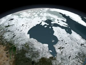 Annual Sea Ice Cycle over Northern Canada