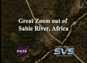 Great Zoom out of Sabie River, Africa (EOS Land Validation Site)