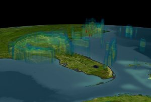 TRMM Tropical Microwave Imager (TMI) view of Hurricane Jeanne on September 27, 2004