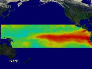 El Niño Sea Surface Wind, Temperature and Height Anomaly Compilation: March 1997 through March 1998