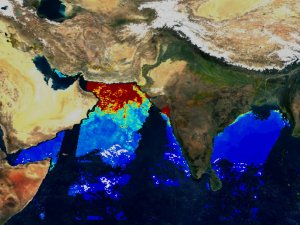 Chlorophyll in the Bay of Bengal with Fluorescence