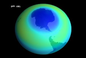 Average September Ozone Levels over Antarctica for 1979 to 1999